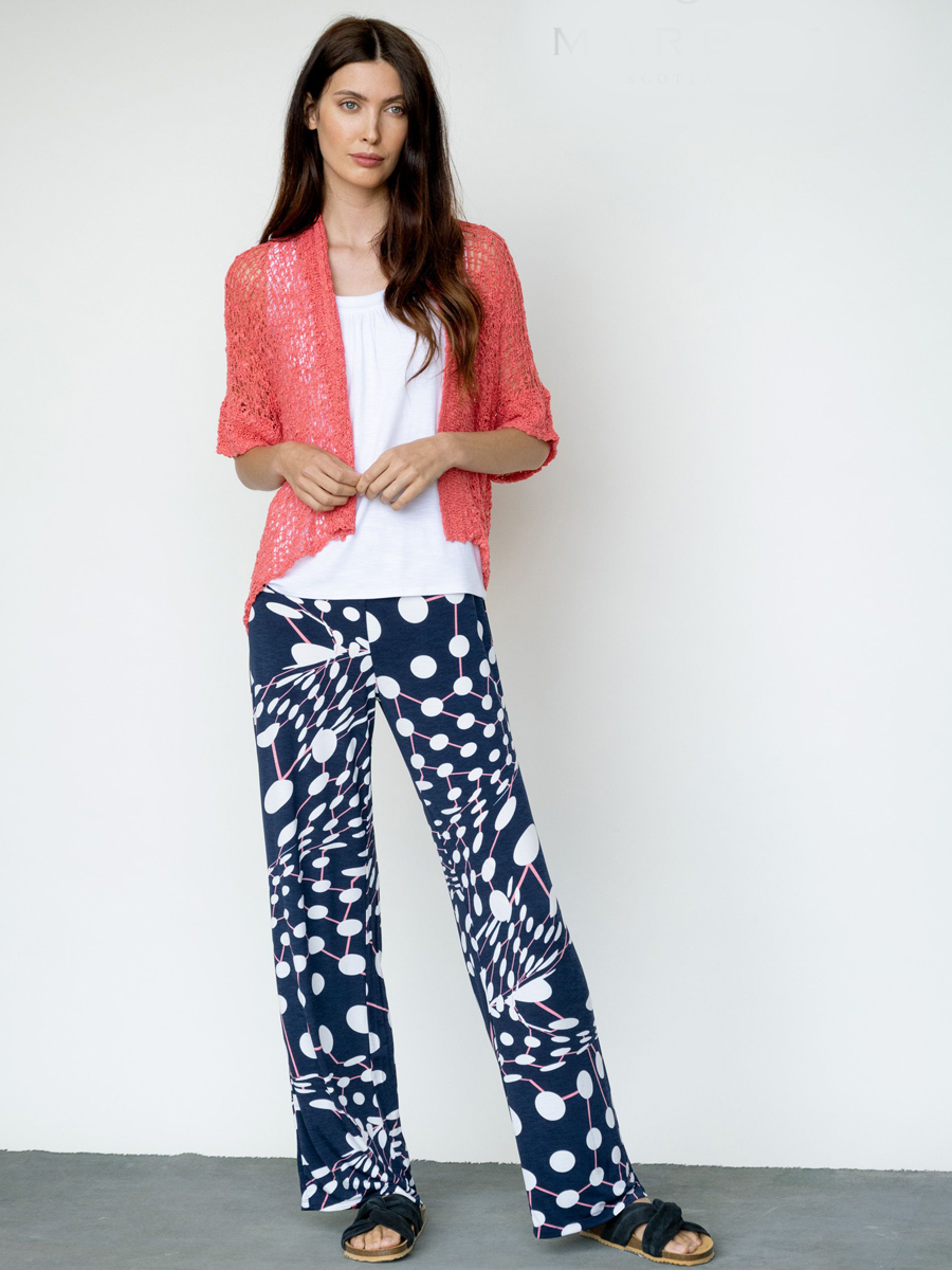 6184 MARBLE Printed Palazzo Trouser