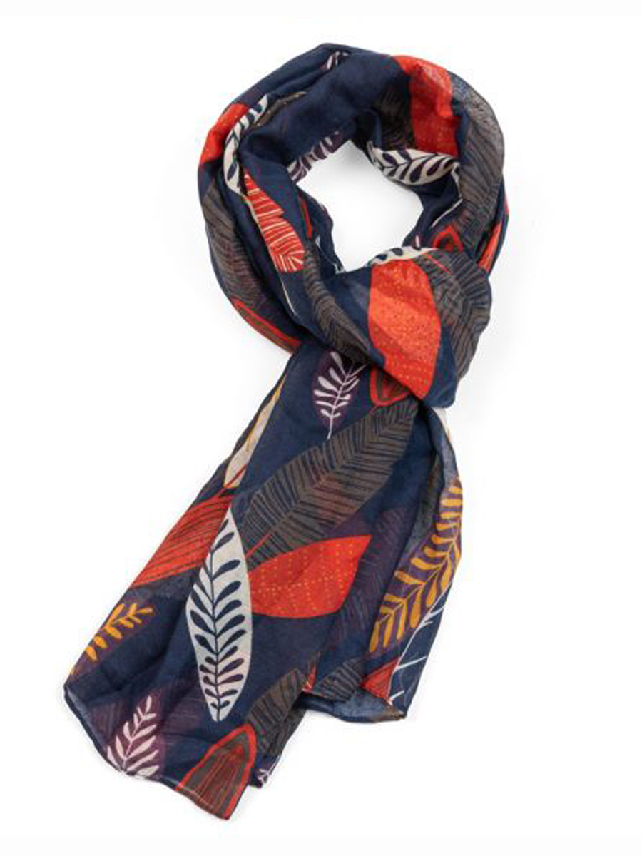 21018 PATTERNED LEAVES Scarf