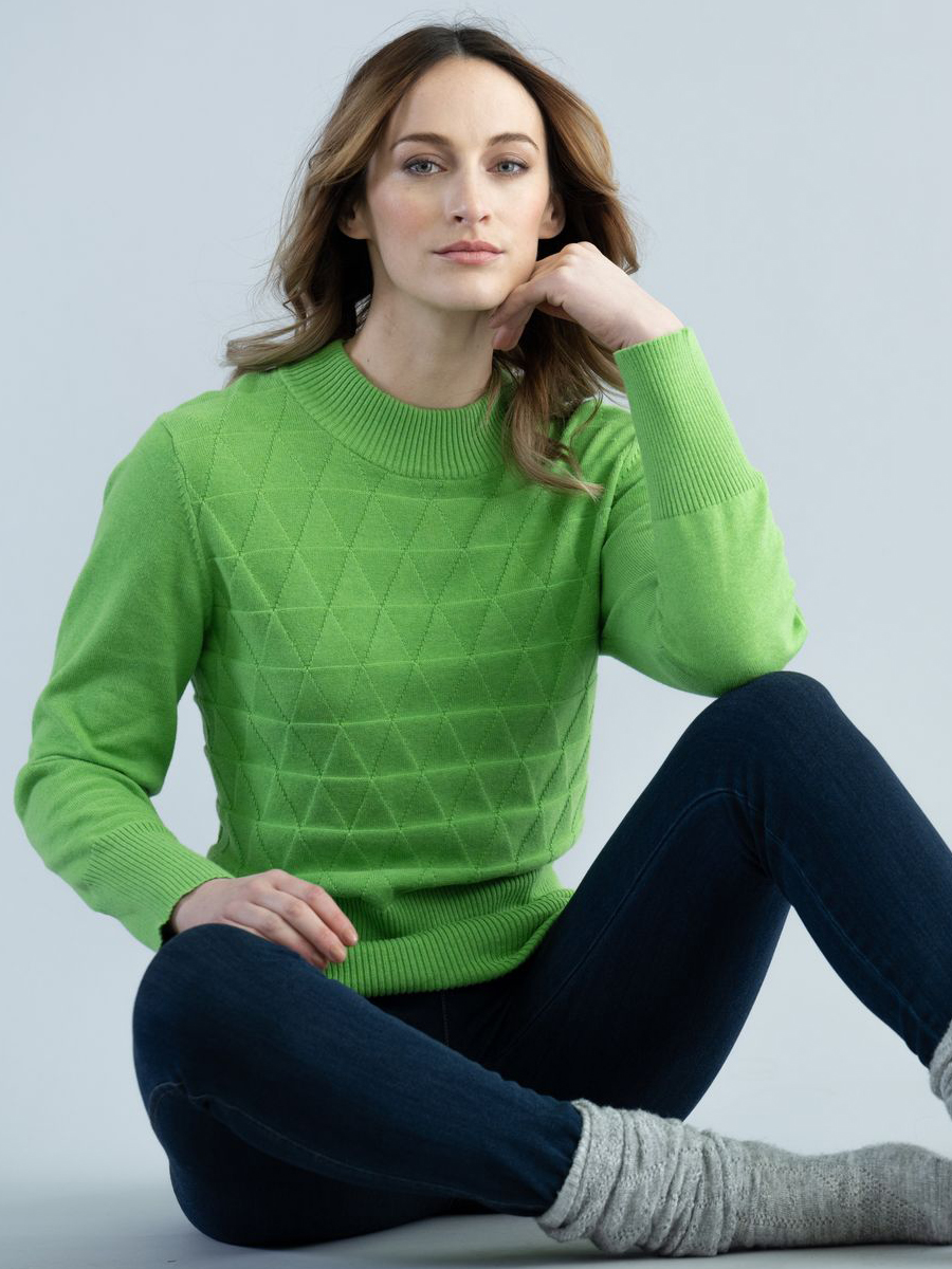 6357 MARBLE Fitted Sweater