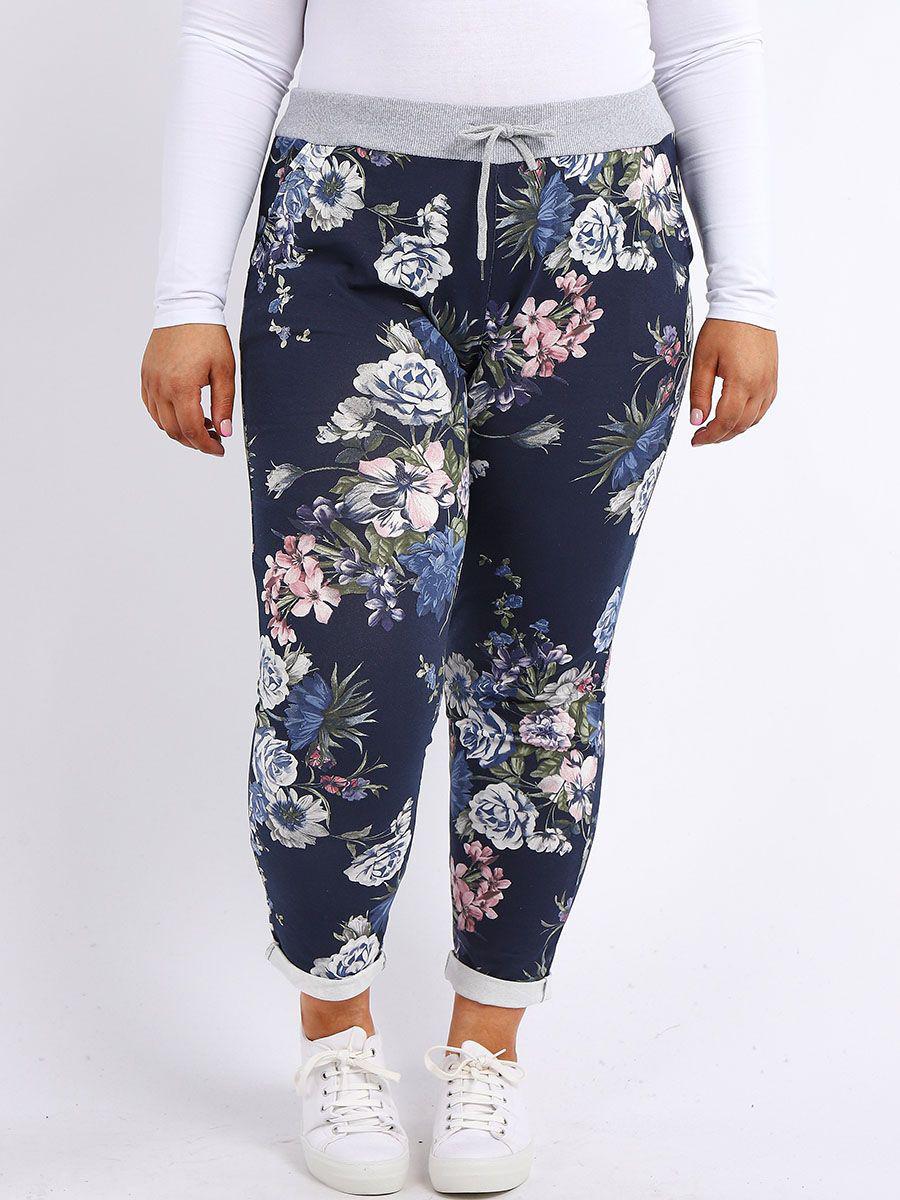 6246 Floral Cotton Joggers
