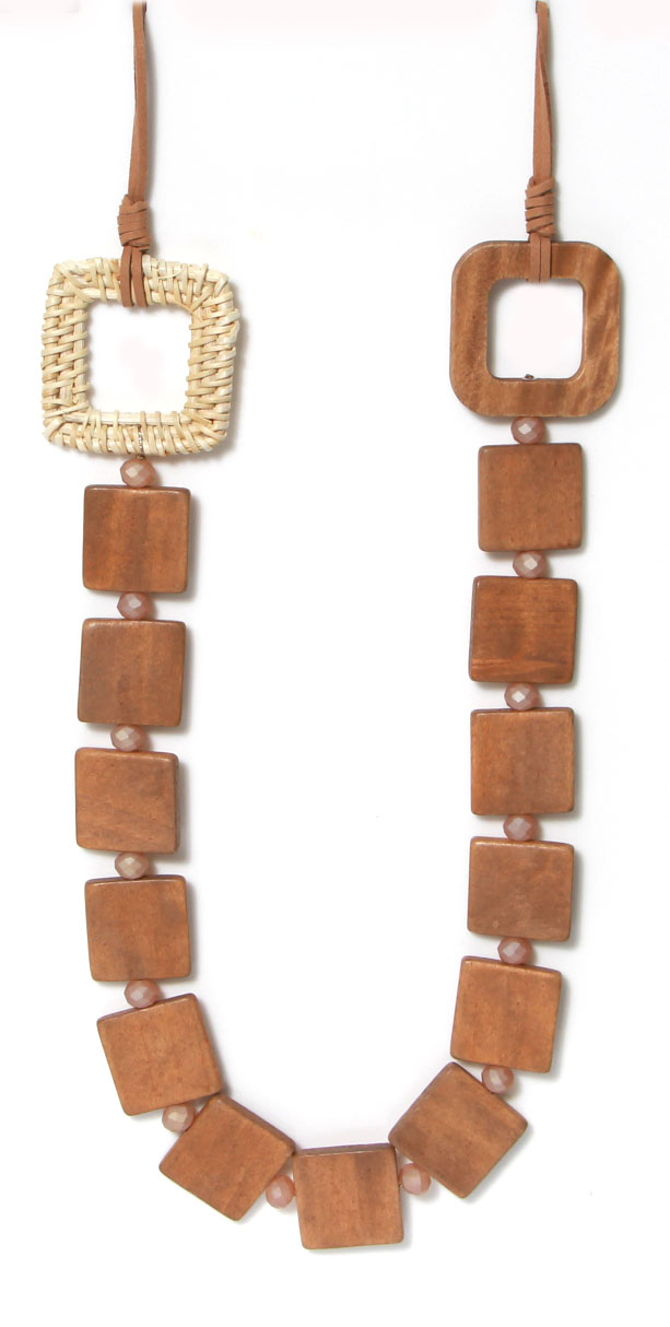 969 ENVY Chunky Wood Necklace