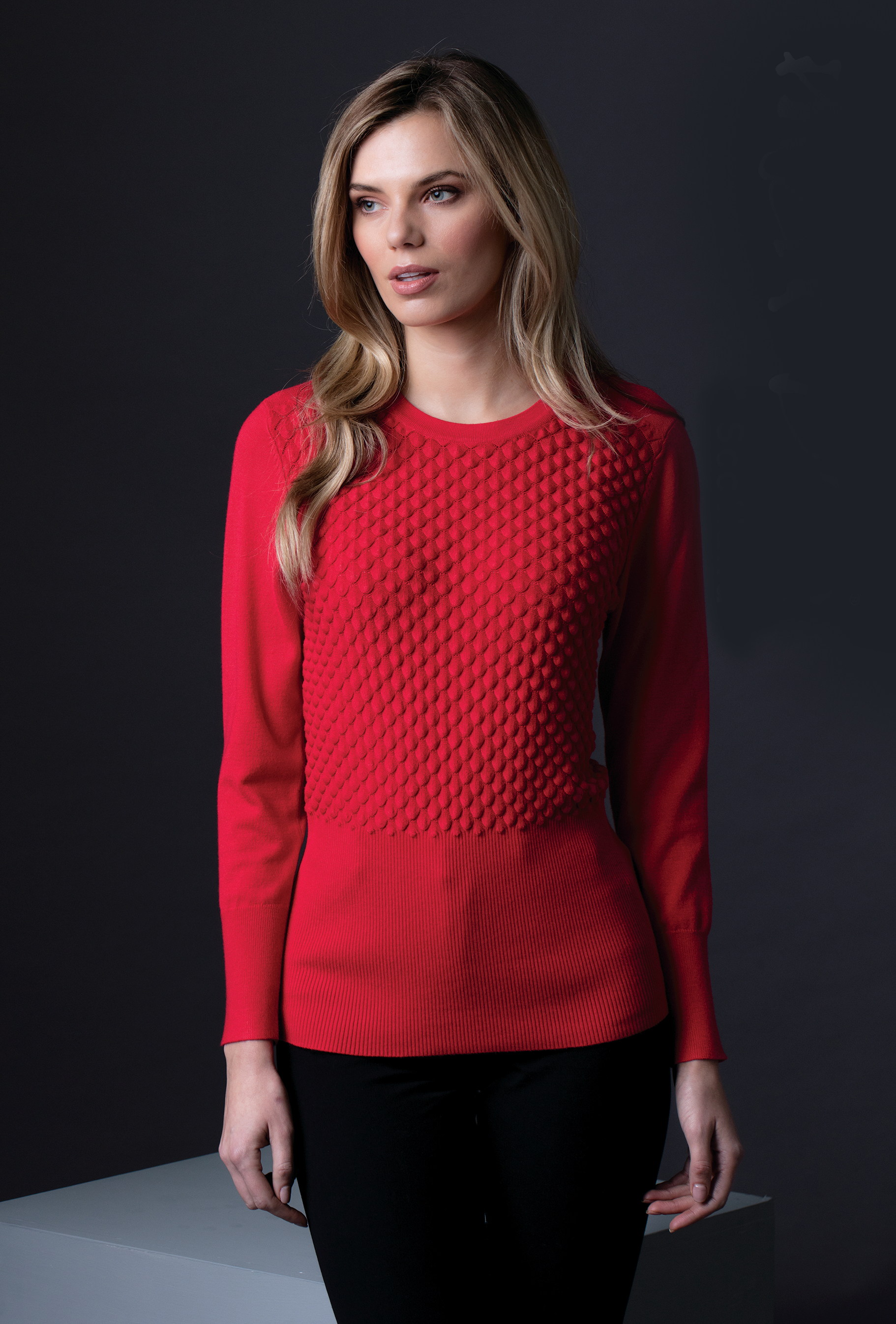 5399 MARBLE SHELL PATTERN SWEATER