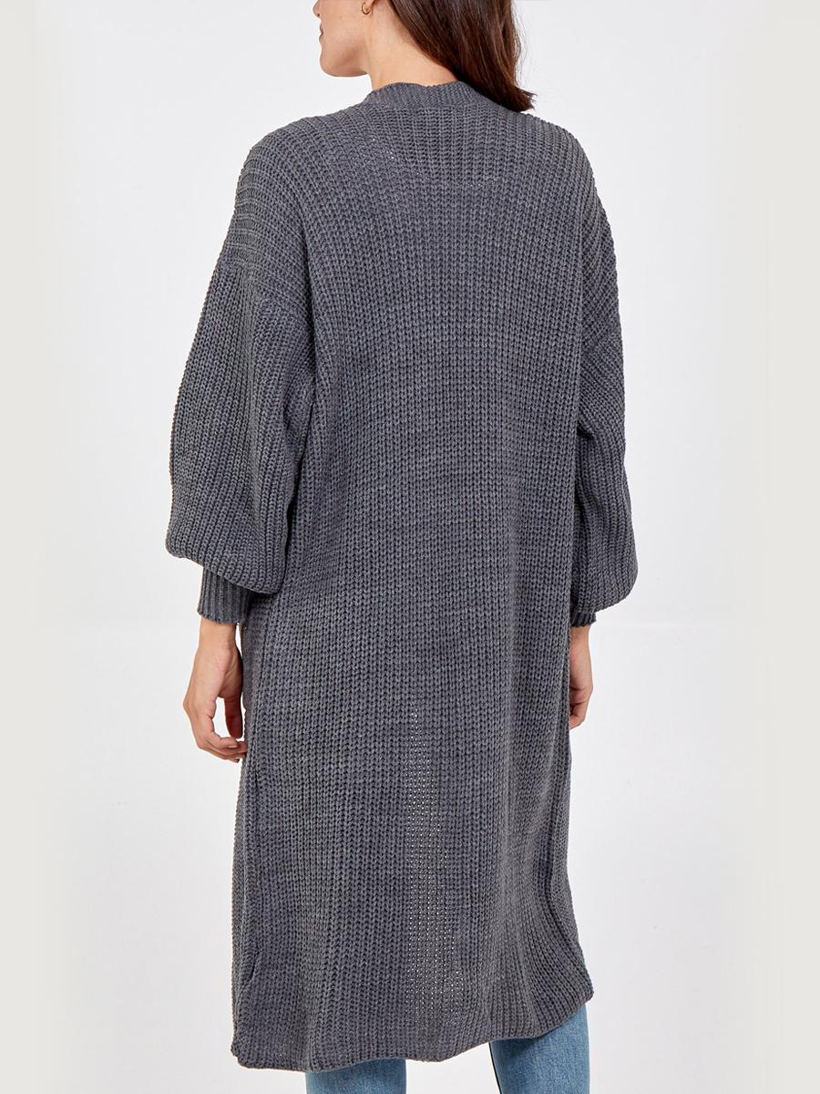 NV1246 Long Knit Cardigan