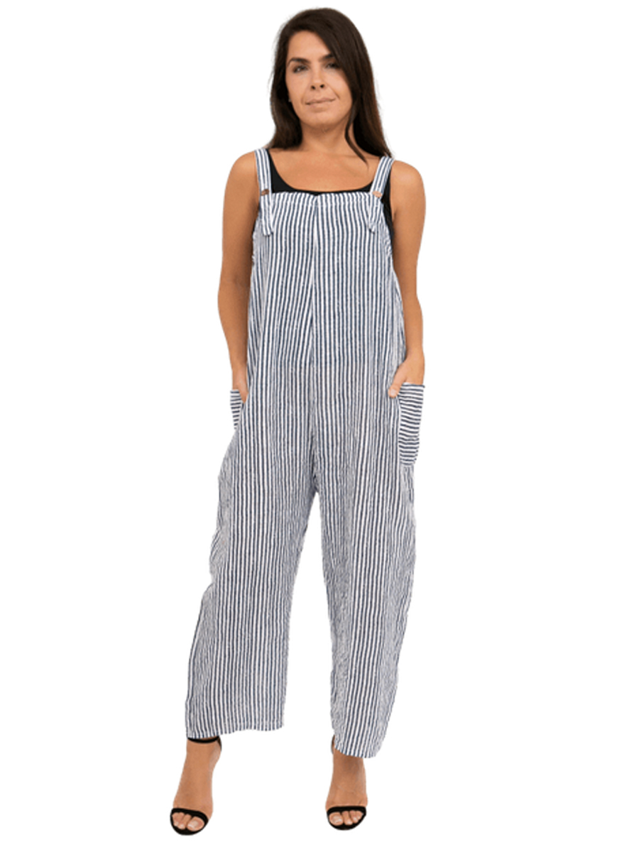 Stripey Dungarees