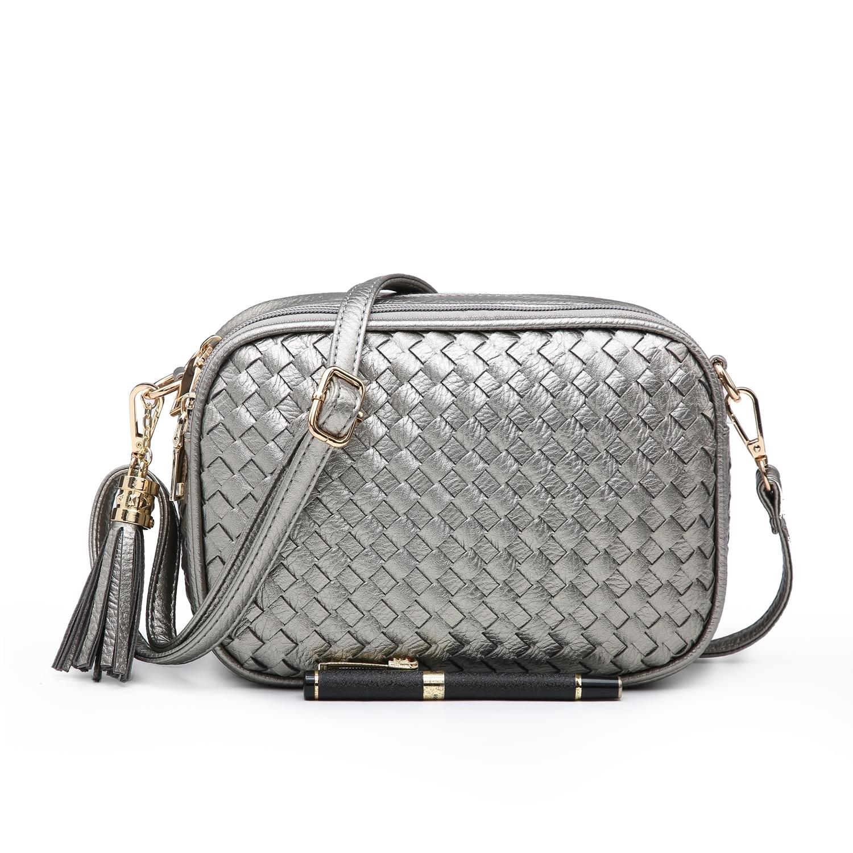 8211 Weave Box Shoulder Bag