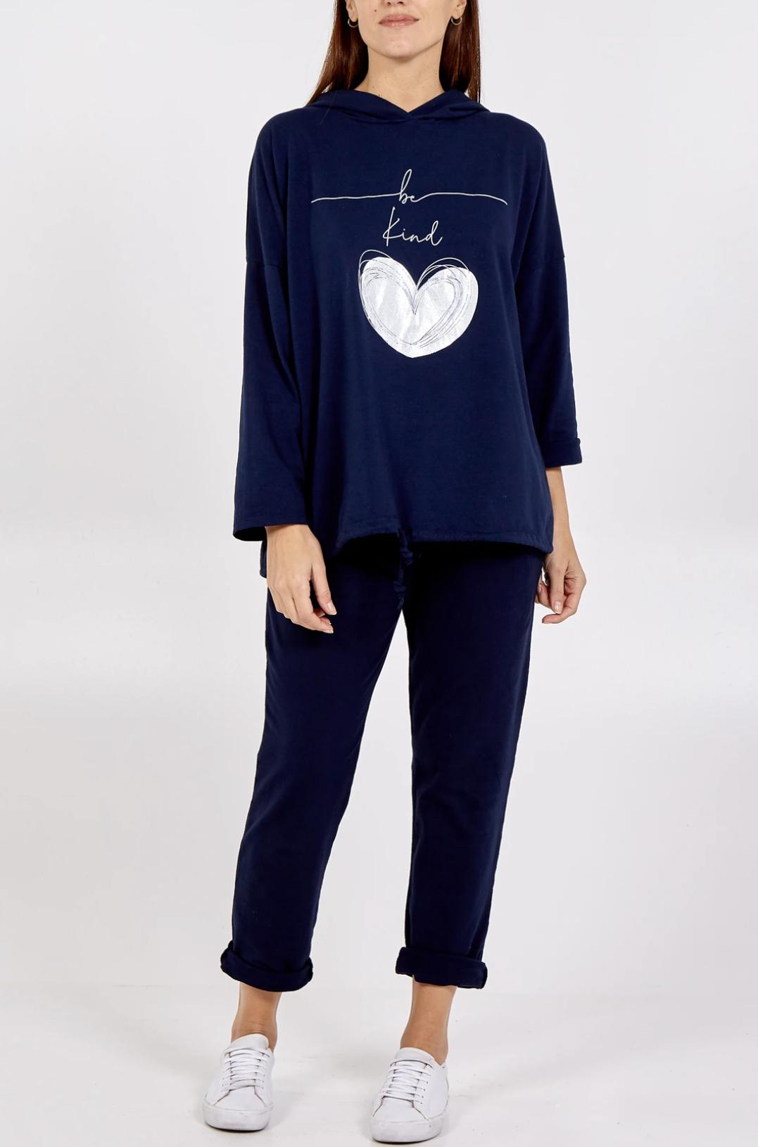 Be Kind - Hooded Sweatshirt & Jogger Set