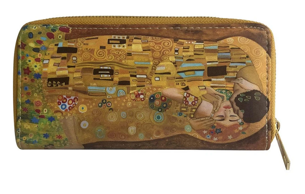 3538 Klimt 'The Kiss' Blossom Print Purse