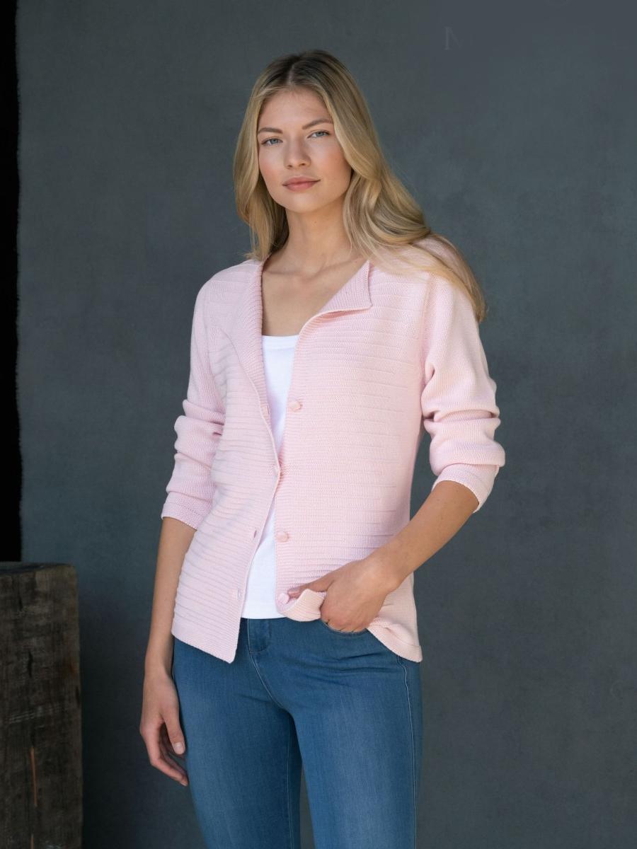 6122 MARBLE Cotton Knit Cardigan/Jacket