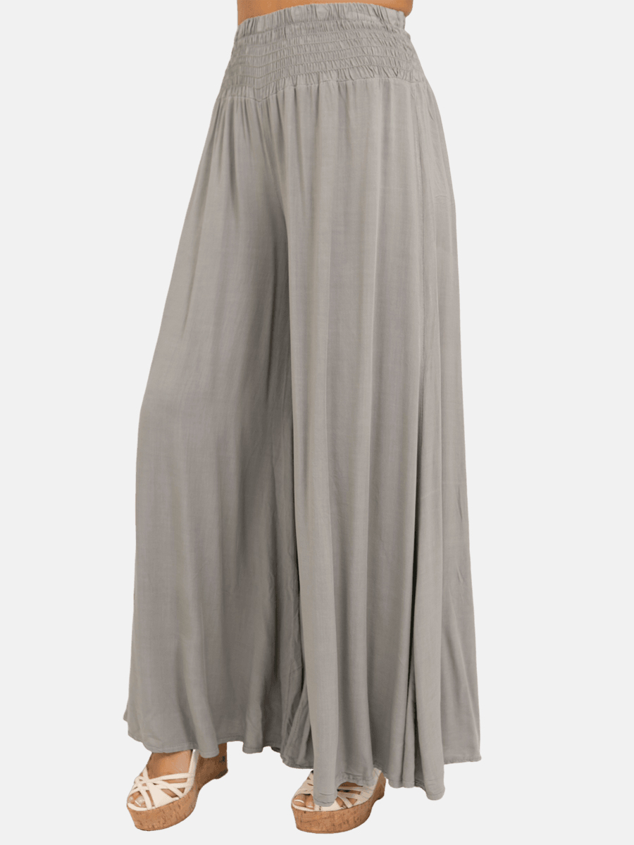 Ruched Wide Leg Palazzo