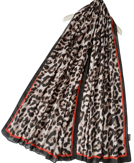 3607 Leopard Print Scarf