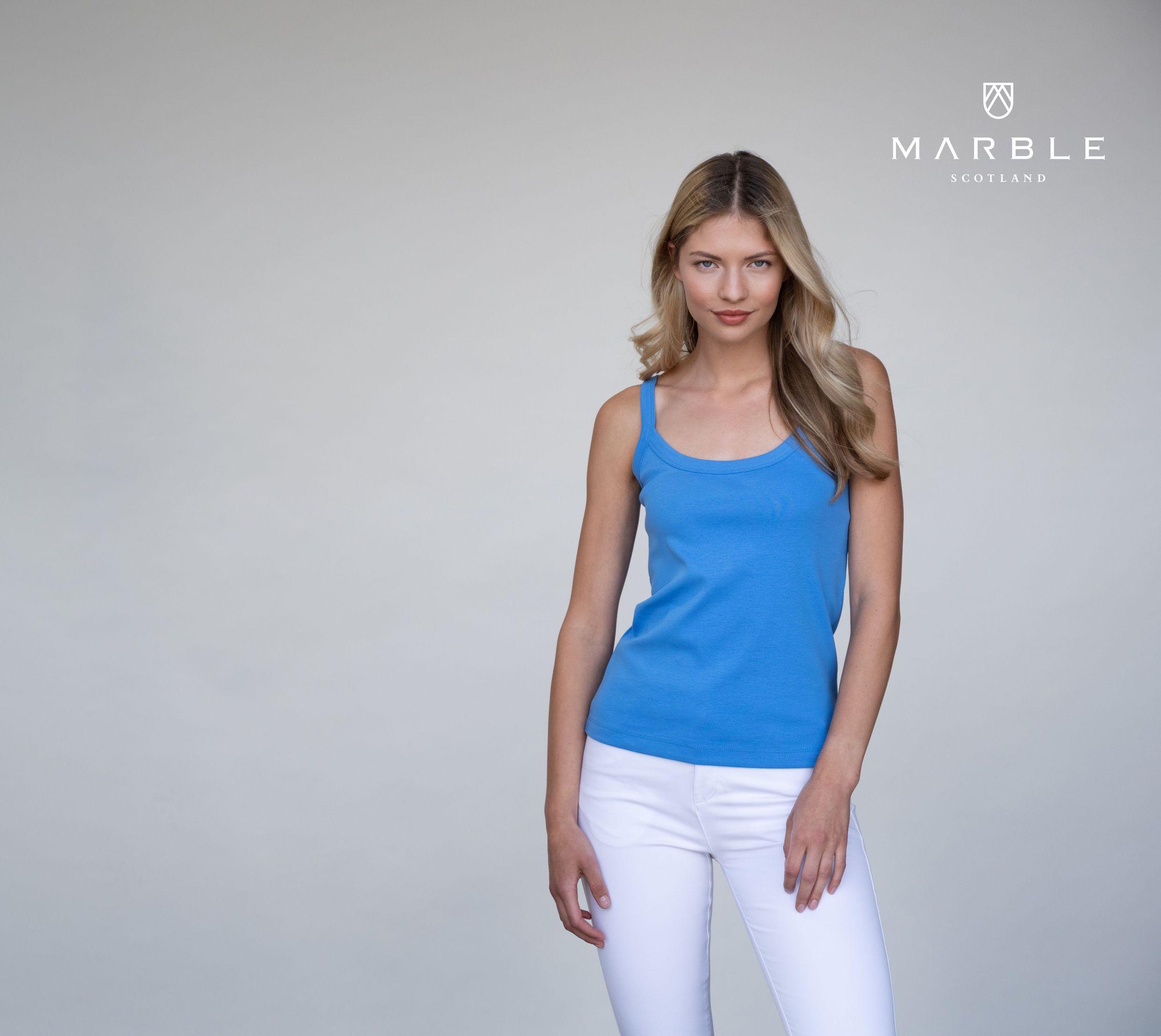 2534 MARBLE Cotton Rib Vest Top
