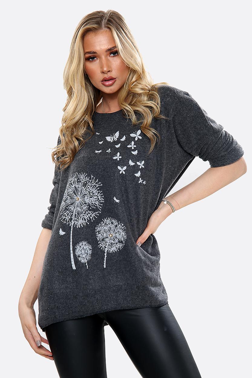 9025 Dandelion & Butterfly Sweater
