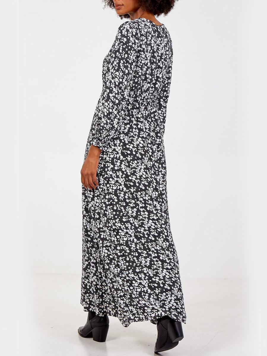 NL7837 V Neck Maxi Dress