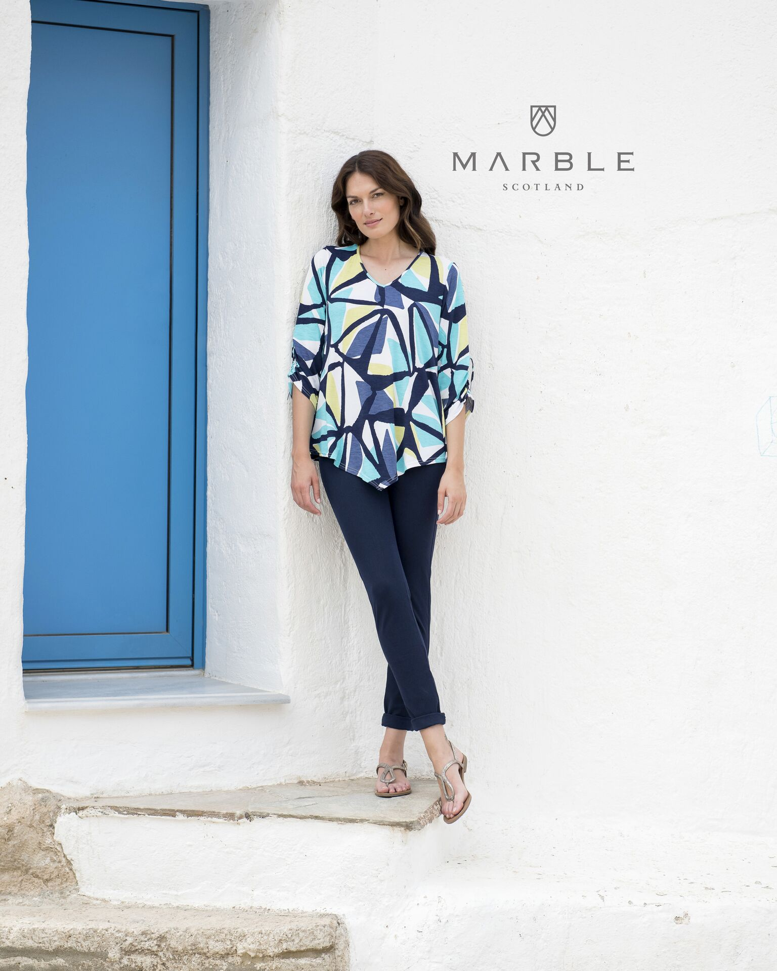 5766 MARBLE Patterned Tunic