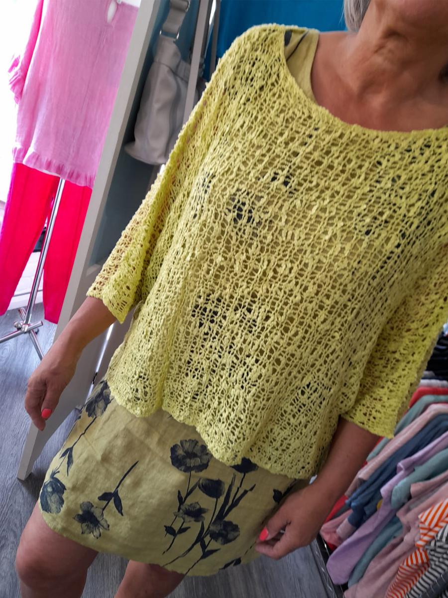 Aqua Linen Dress Two Piece