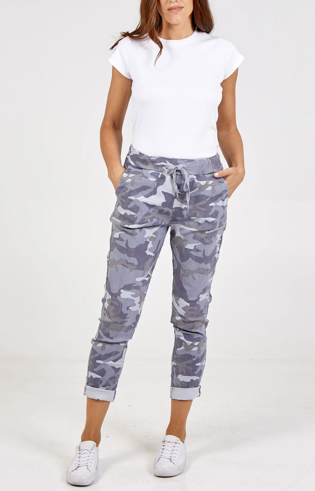 Grey Camouflage Joggers