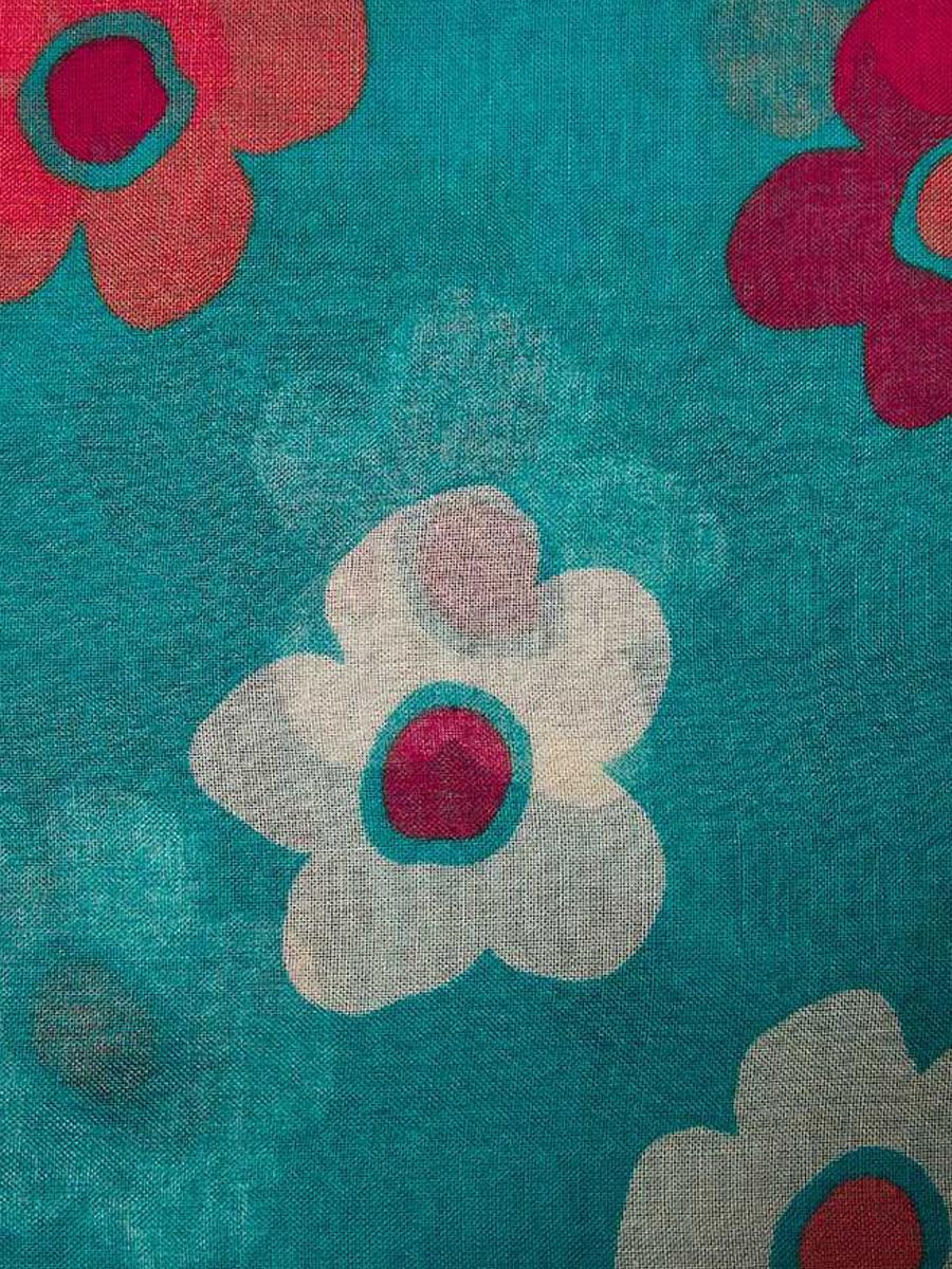 21019 Bold Floral Print Scarf