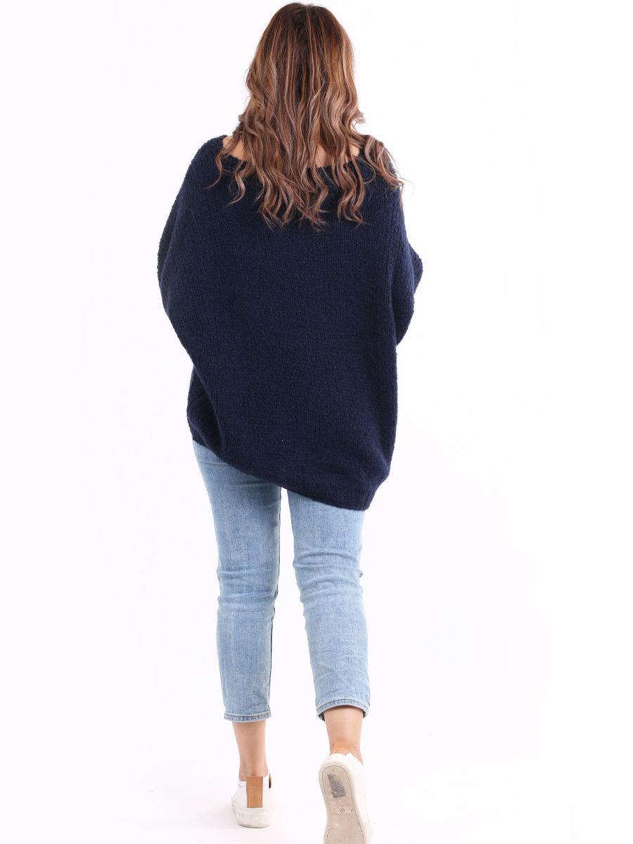6624 Batwing Woollen Sweater