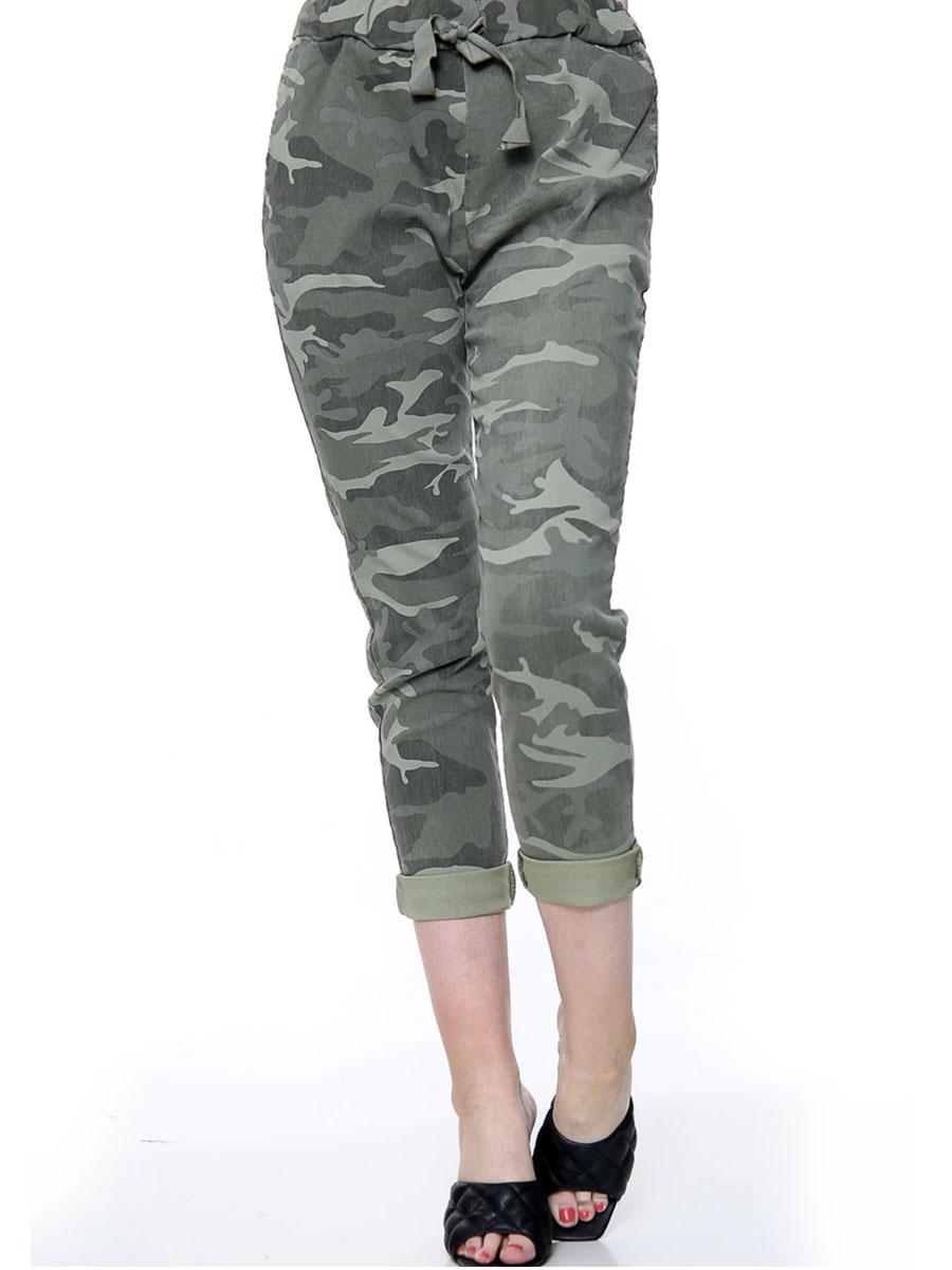 Khaki Camouflage Joggers