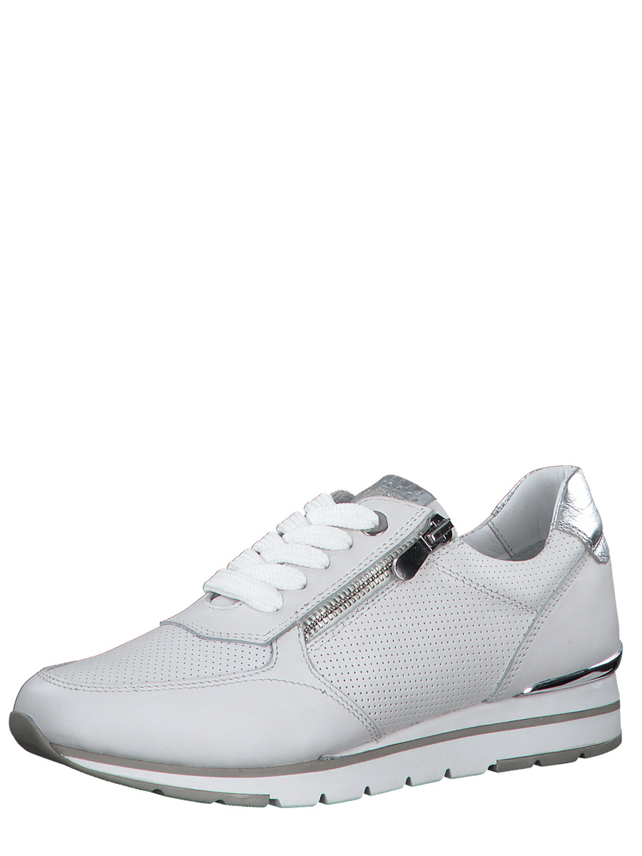 23757 MT White Leather Trainer