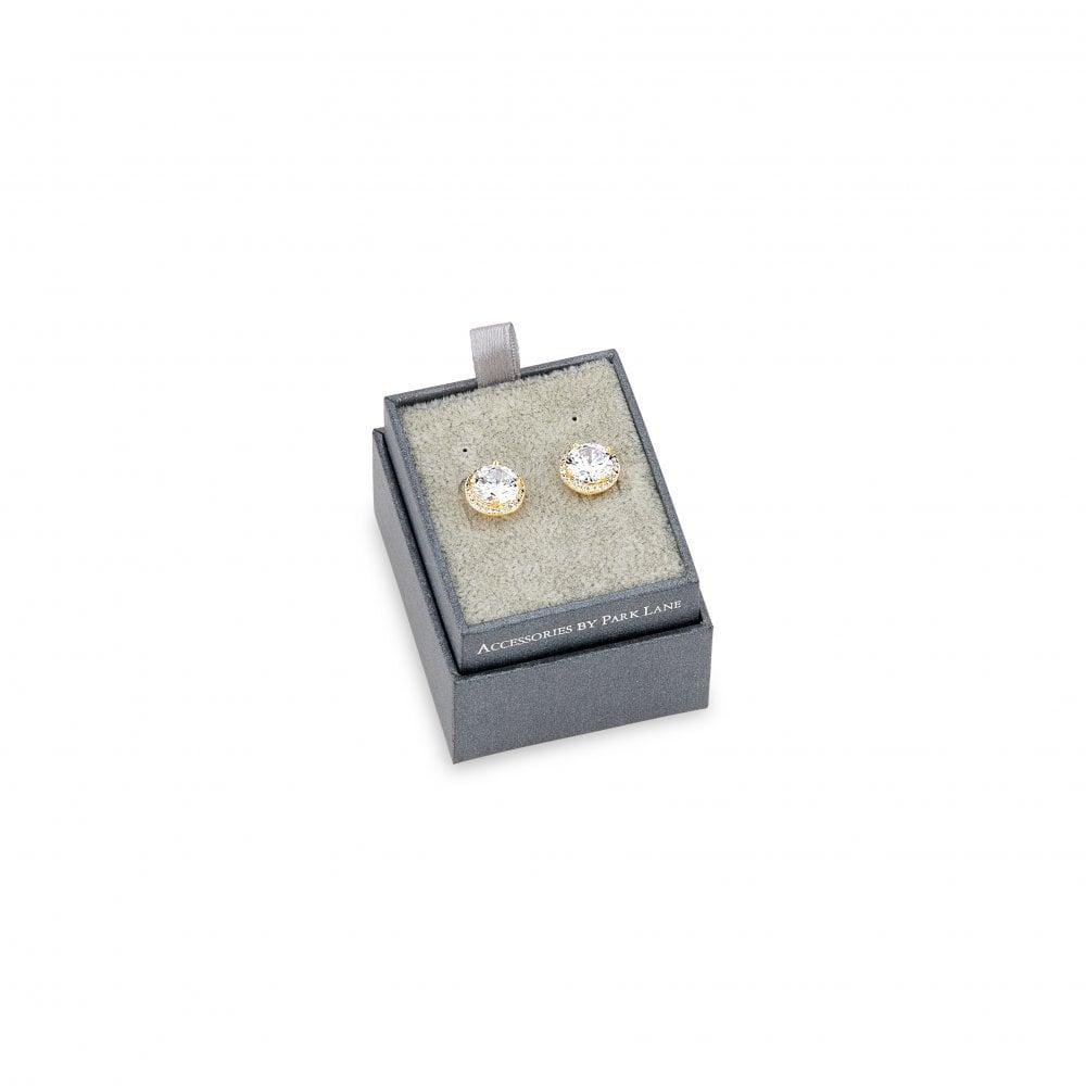 E16153 Rhodium Plated Stud Earring Set
