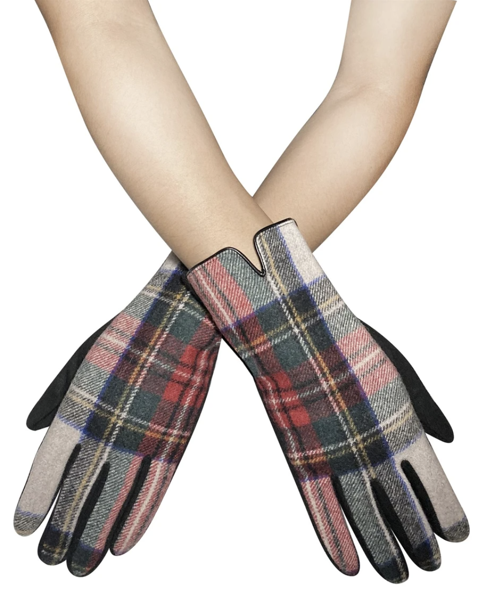 3574 Traditional Tartan Touchscreen Gloves