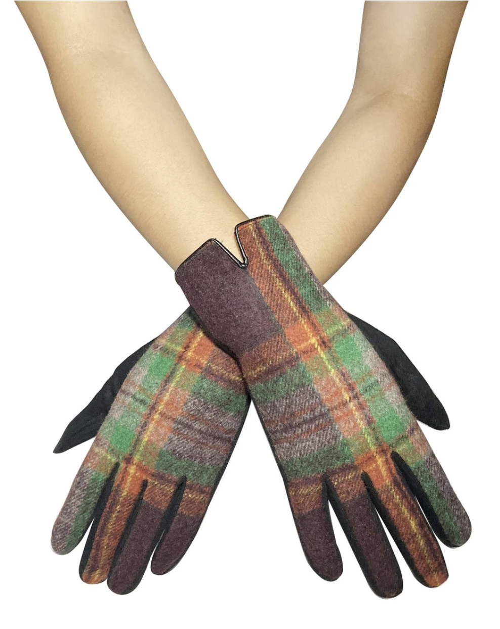 3574 Traditional Tartan Touchscreen Gloves