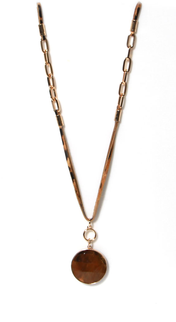 1105 ENVY Leather & Chain