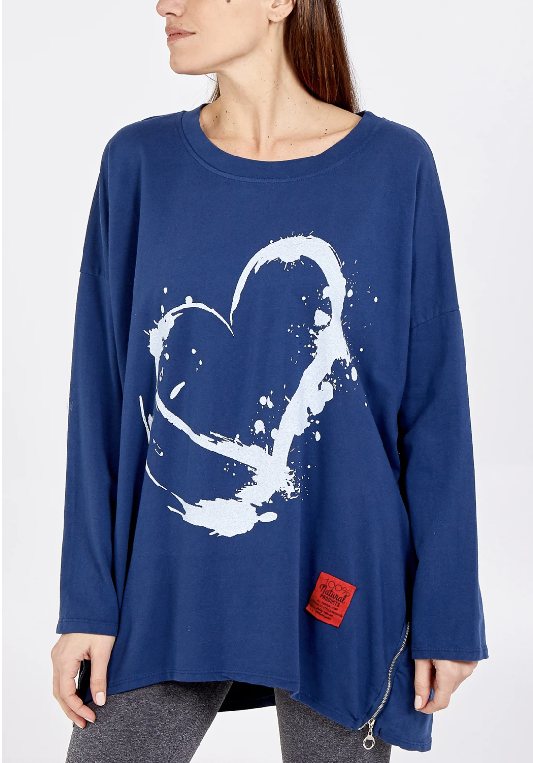 NV927 Heart Sweater with zip