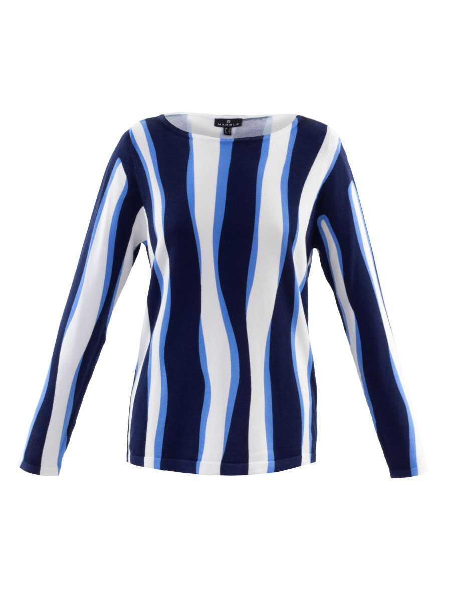 6005 MARBLE WAVE PRINT SWEATER