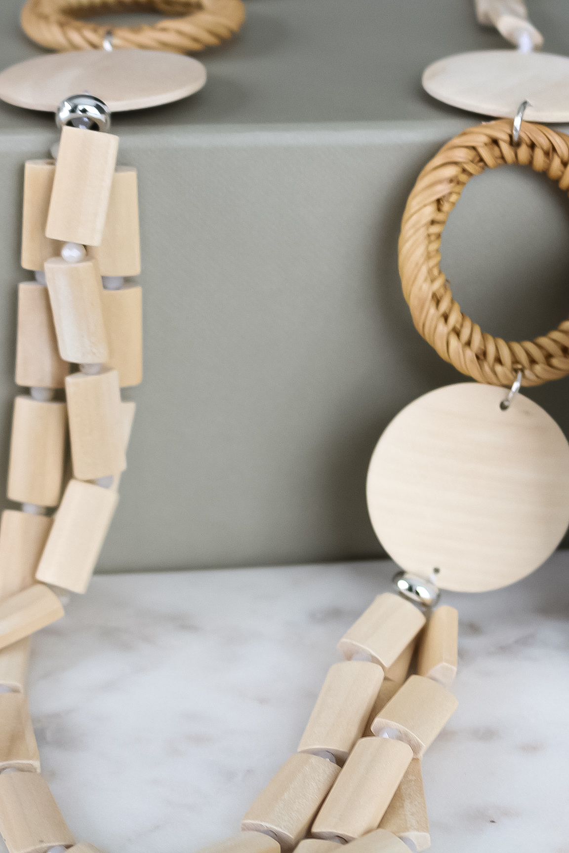 1340 ENVY Wood Effect Necklace