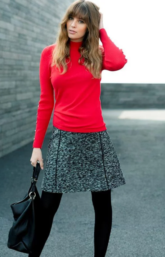 5952 MARBLE A-Line Skirt