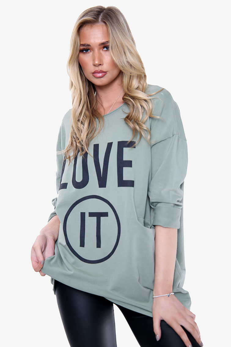 1866A 'Love It' Graphic Sweatshirt