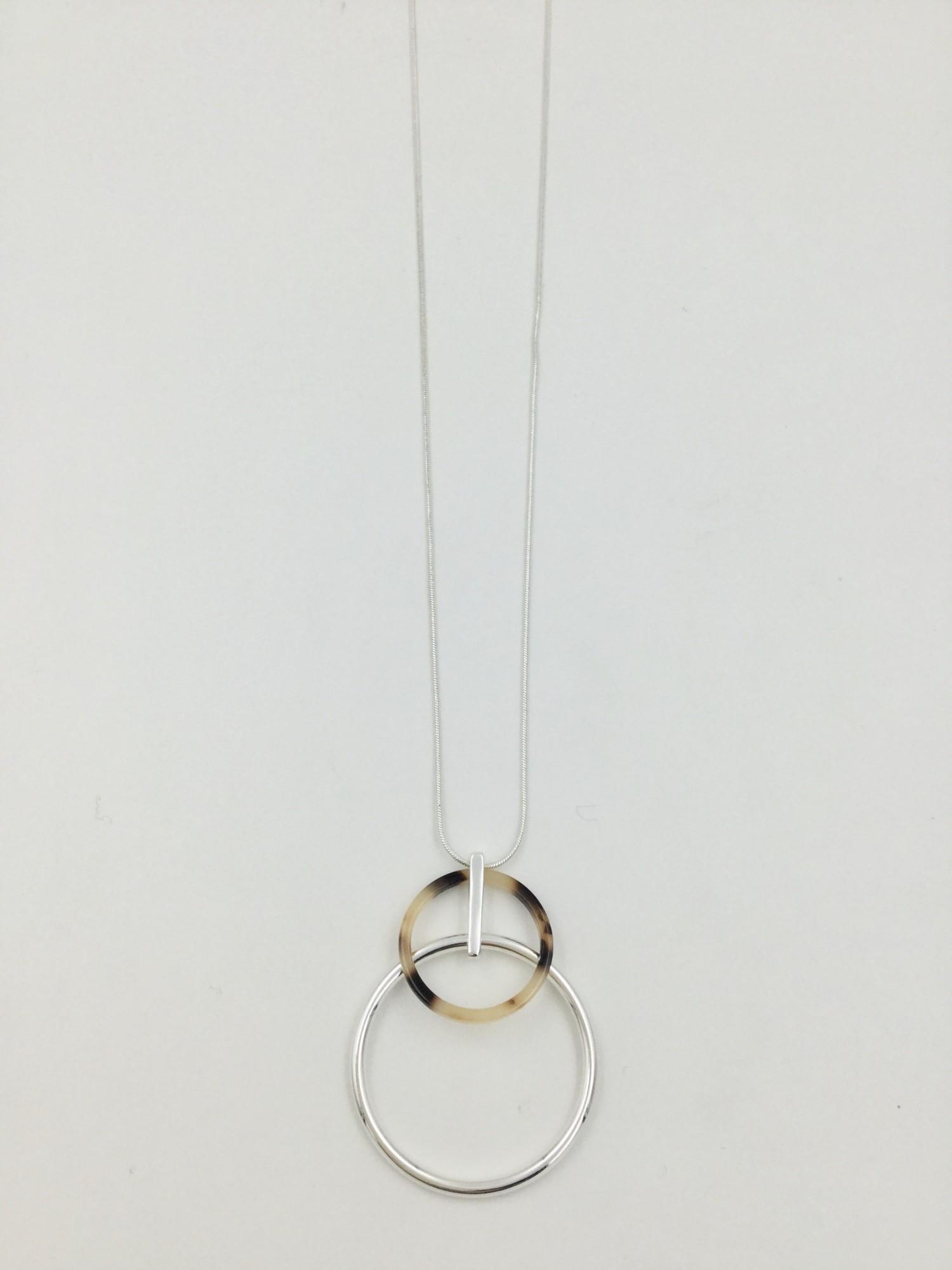 N602101S Leopard Print Necklace