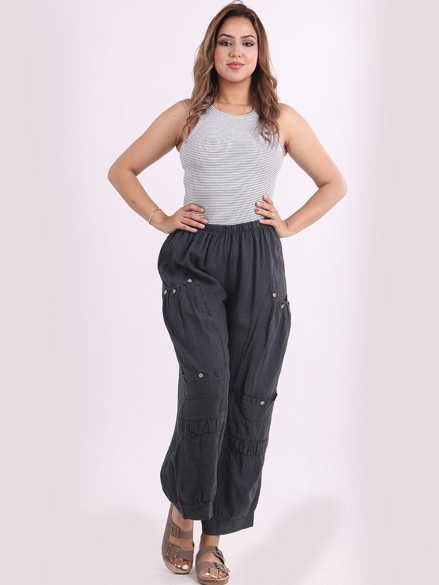 6567 Front Pocket Wide Leg Trouser
