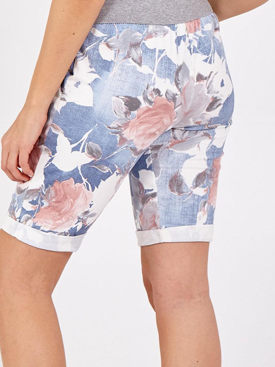 NV1089 Light Denim Rose Shorts