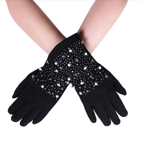 2222 Pearl & Diamante Gloves