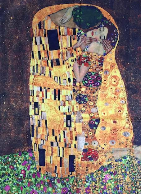 3351 Klimt The Kiss Print Scarf