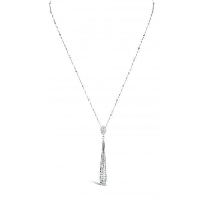 Ñ18735 Rhodium Long Cecklace