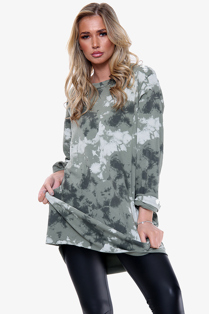 0085 Cloud Print Long Tunic
