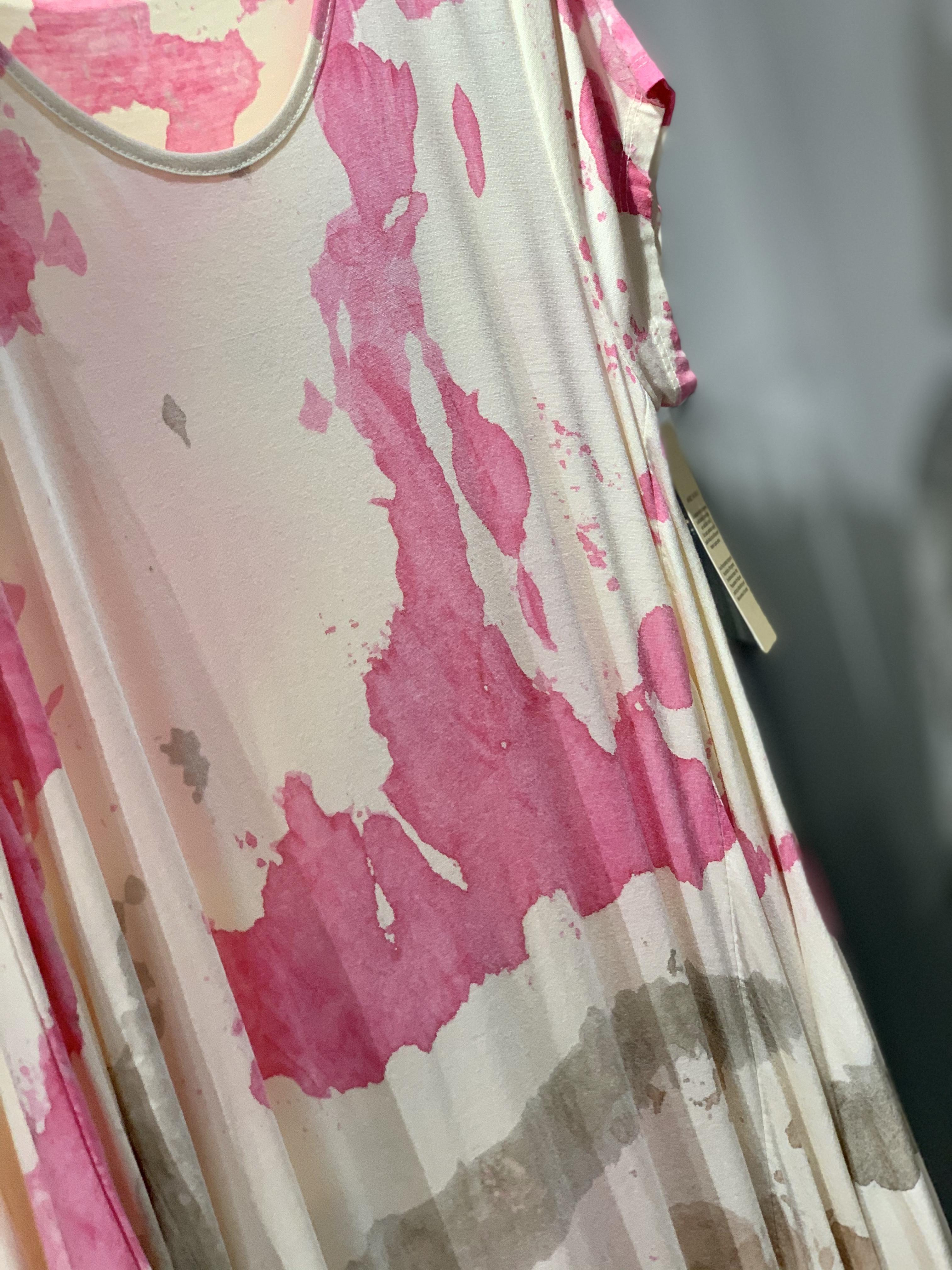 SPLATTER PATTERN MAXI DRESS