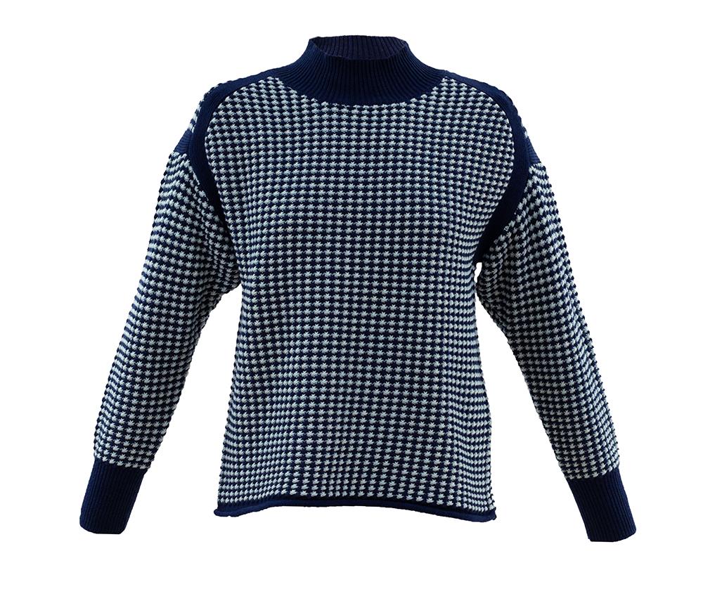 5923 MARBLE Cross Hatch Print Sweater