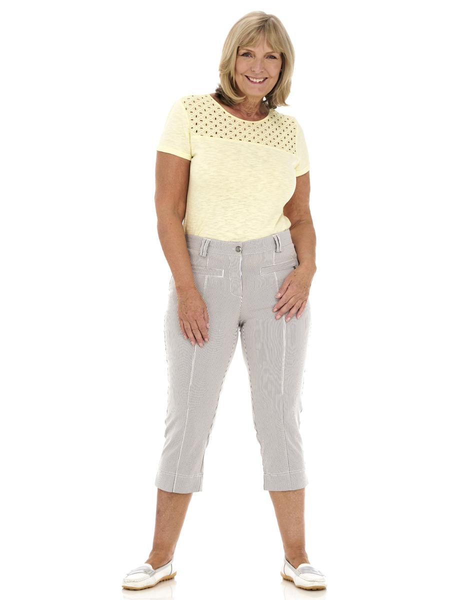 378C PINNS Stripe Crop Trouser