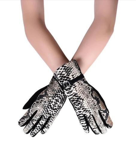 3269 Snakeskin Print Gloves