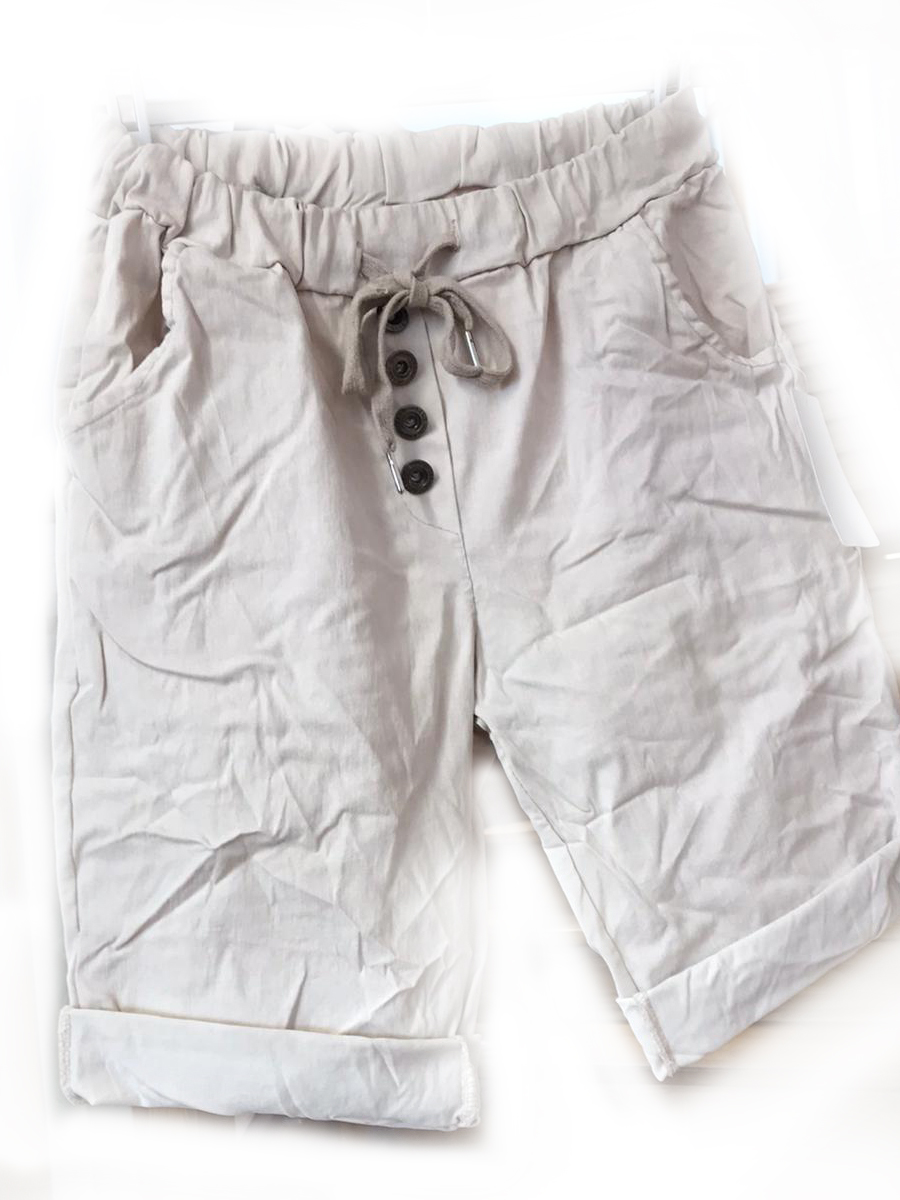 Buttoned Shorts_Pull On