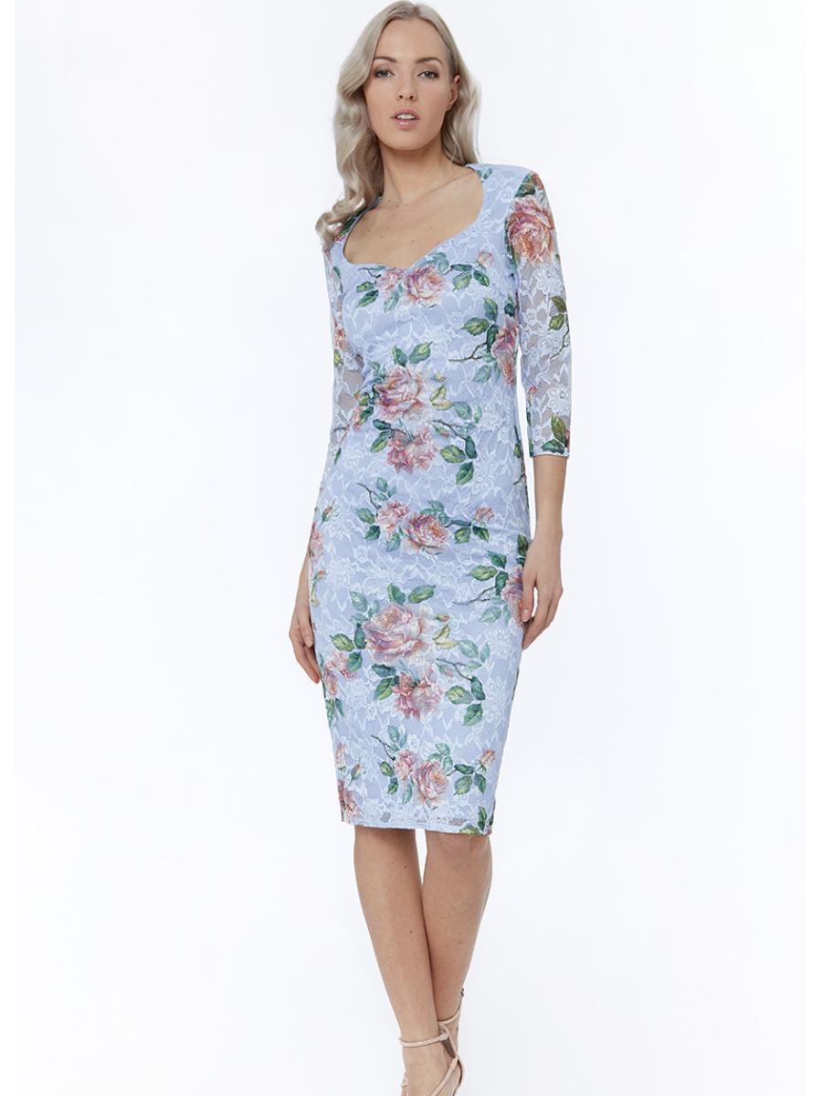 DR2060 CG Floral Midi Dress