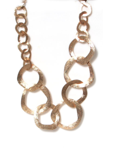 974 Hammered ring necklace