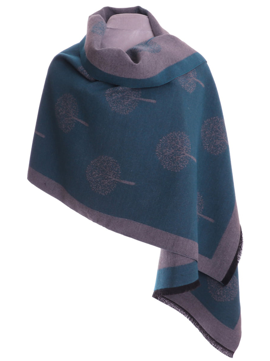 1014027 ZELLY Mulbery Teal Wrap