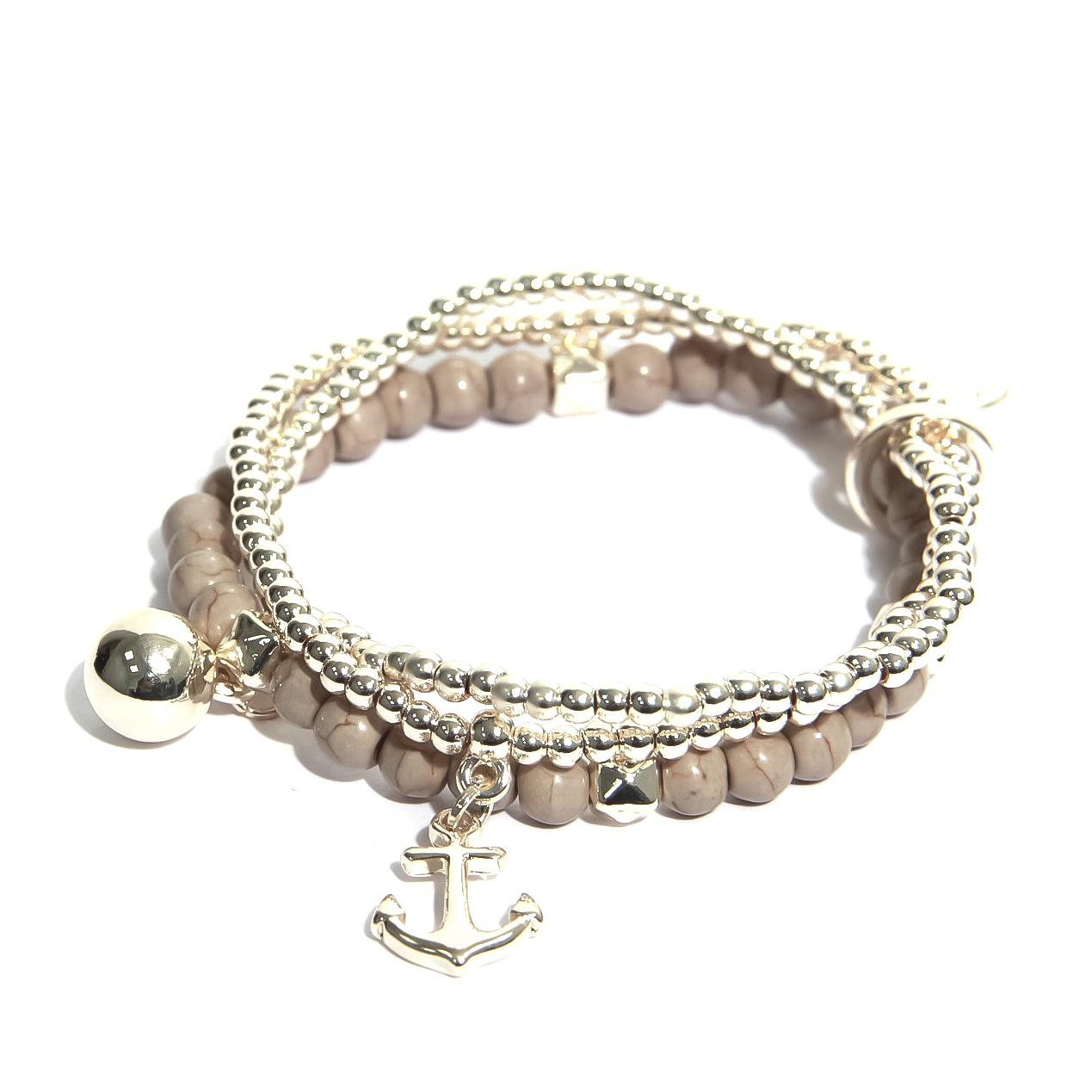 1314 Multistrand beaded bracelet