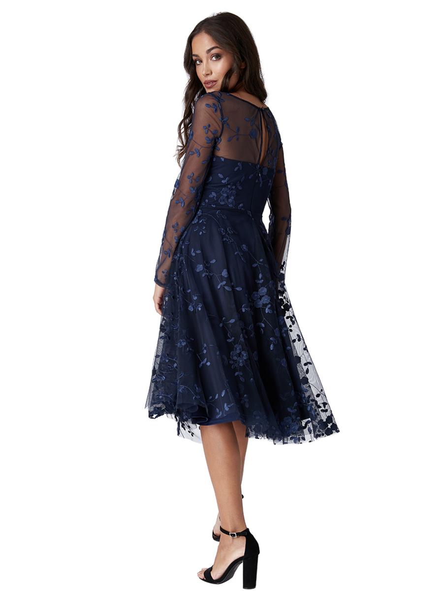 DR1648B CG Embroidered Dress